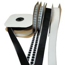 Hook and Loop Tape, Velcro® Alternative, Rolls, Coins. White and Black.