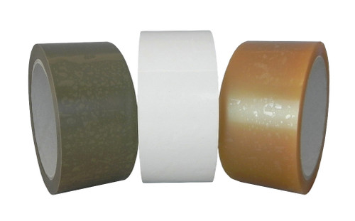 UPVC Packing Tape, White Tan and Clear, 9532