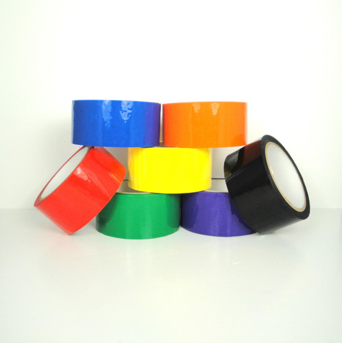 Colored Carton Sealing Tape (6120), Colored Carton Tape, Wholesale at TapeJungle.com