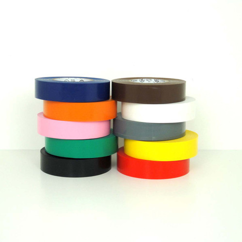 Colored Electrical Tape - Other Widths: 3/8 inch, 1/2 inch, 3/4 inch, 1 inch, 1.5 inch, 2 inch, 3 inch - Wholesale Prices - TapeJungle.com.
