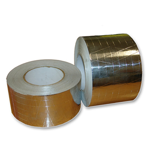 Aluminum Foil-Scrim-Kraft Tape 6.8 Mil Rubber Adhesive, Aluminum Kraft Tape, Aluminum Scrim-Kraft Tape, Aluminum Rubber Adhesive Tape, Wholesale Discount Prices from TapeJungle.com
