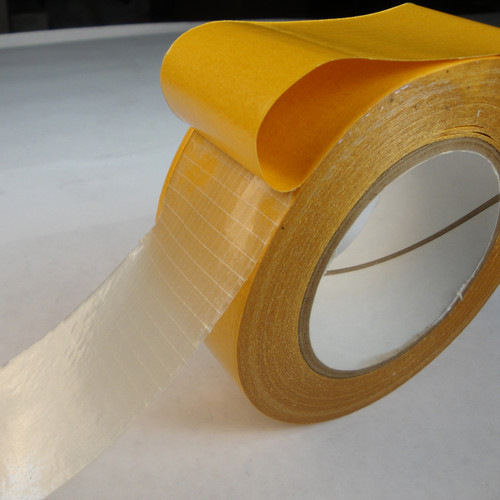 Double Coated Heavy-Duty Scrim Tape 9.1 Mil - Clear | TapeJungle.com