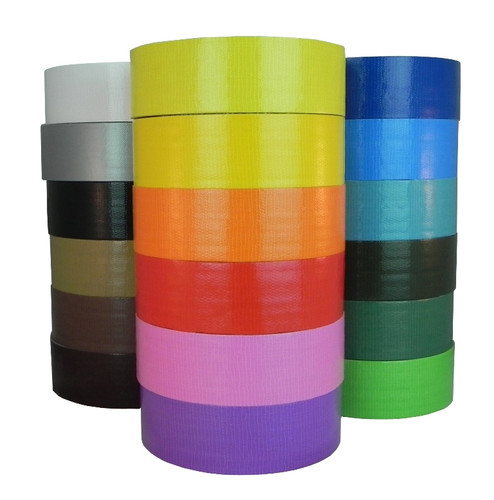 Where to Buy Colored Duct Tape - Industrial Grade - TapeJungle.com Wholesale Prices - 18 Colors Available - Sold by the Case or Roll - Call Us Discounted Prices - 877-284-4781. Black Duct Tape, Red Duct Tape.