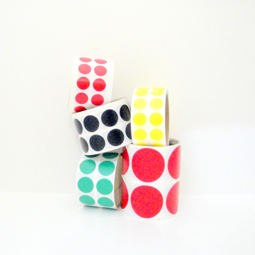 SPVC Viny Die Cuts Dots on a Roll - Wholesale - Call 877-284-4781.