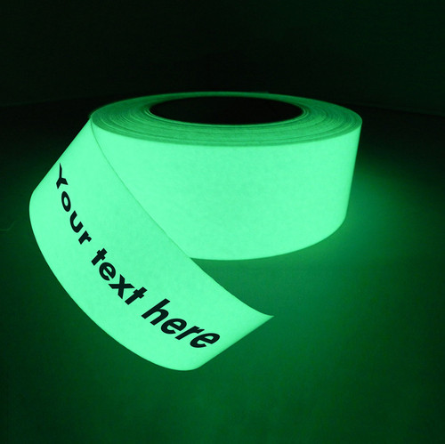 print on glow in the dark tape