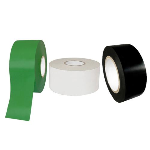 PVC Pipe Wrap Tape 10 Mil in green, white or black.