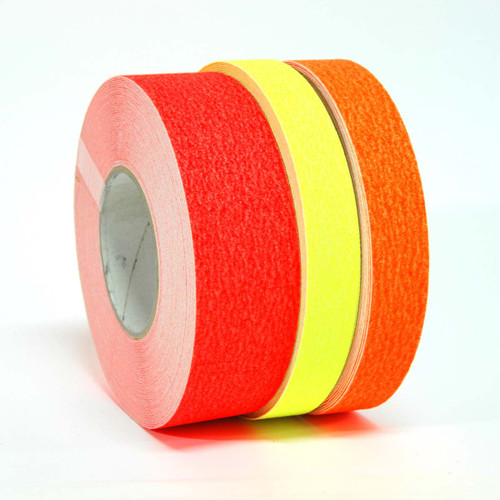 "Sure Step Fluorescent (69023) - Non-Skid Safety Tapes - 3 Colors - Fluorescent Red, Fluorescent Yellow, Fluorescent Orange - 1"" to 12"" Rolls - 60 Feet - TapeJungle.com - 305-231-8273."