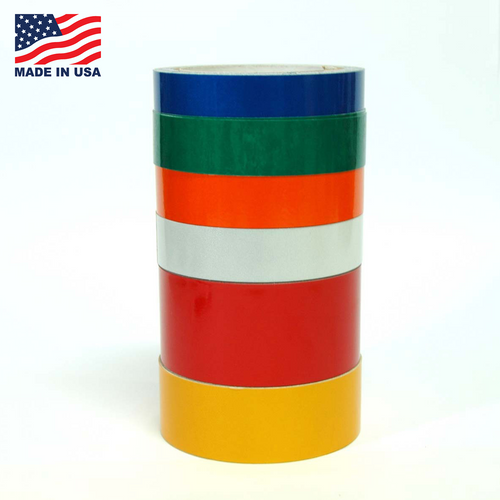 """Reflective Tape Engineering Grade - 10 YD - 6 colors - 1/2"""" to 6"""" - TapeJungle.com - 305-231-8273."""