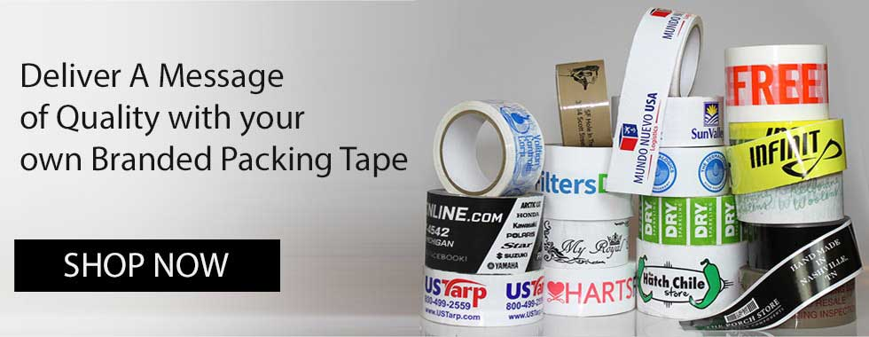 CUSTOM PRINTED VINYL PACKING ADHESIVE TAPE WITH LOGO • PERSONALISED • 1-3 COLOUR