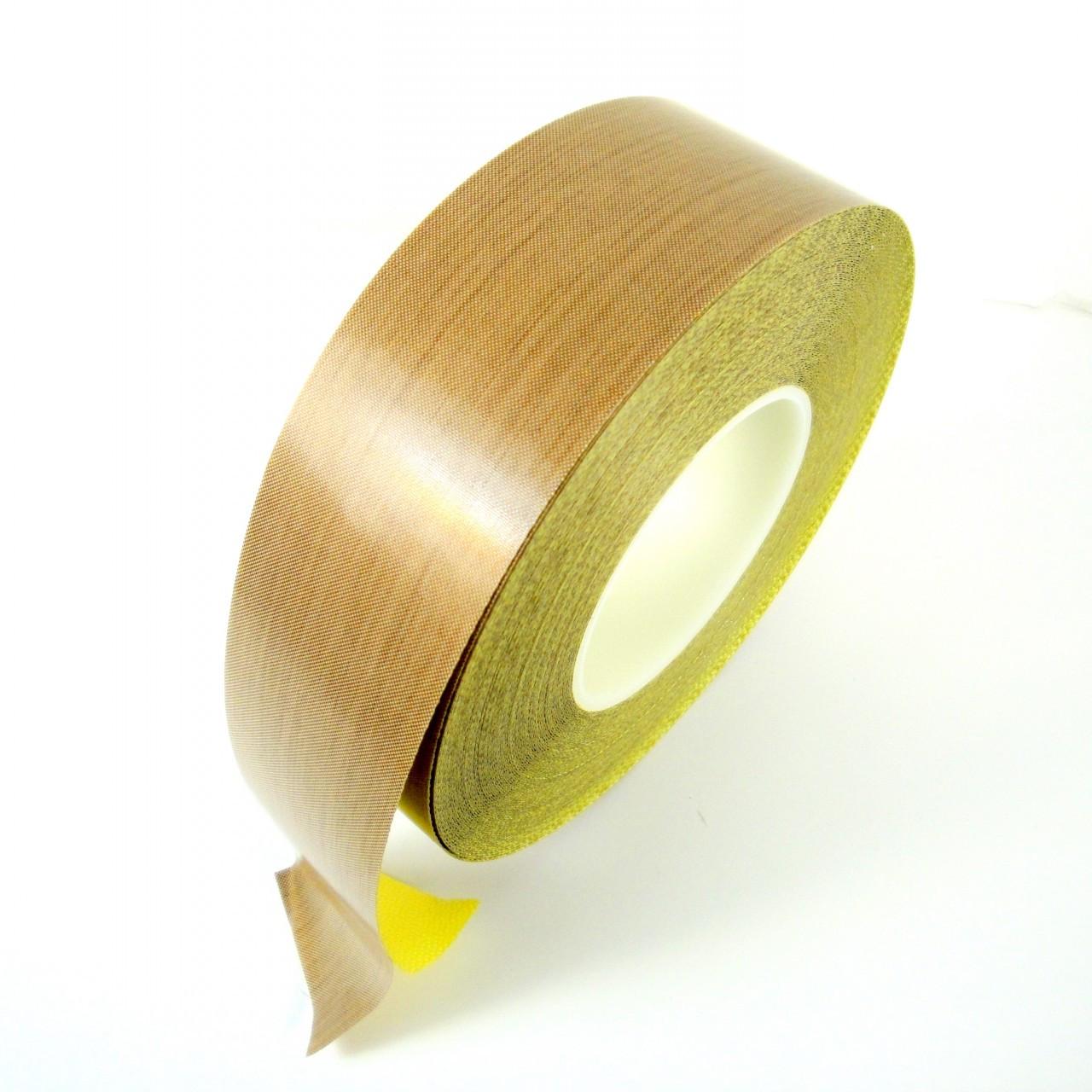 1//2 inch x 36 yards Teflon 5 mil w// Silicone Adhesive Coated Fiberglass Cloth Tape PTFE