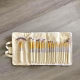 18 pc. Ivory and Gold Brush Set