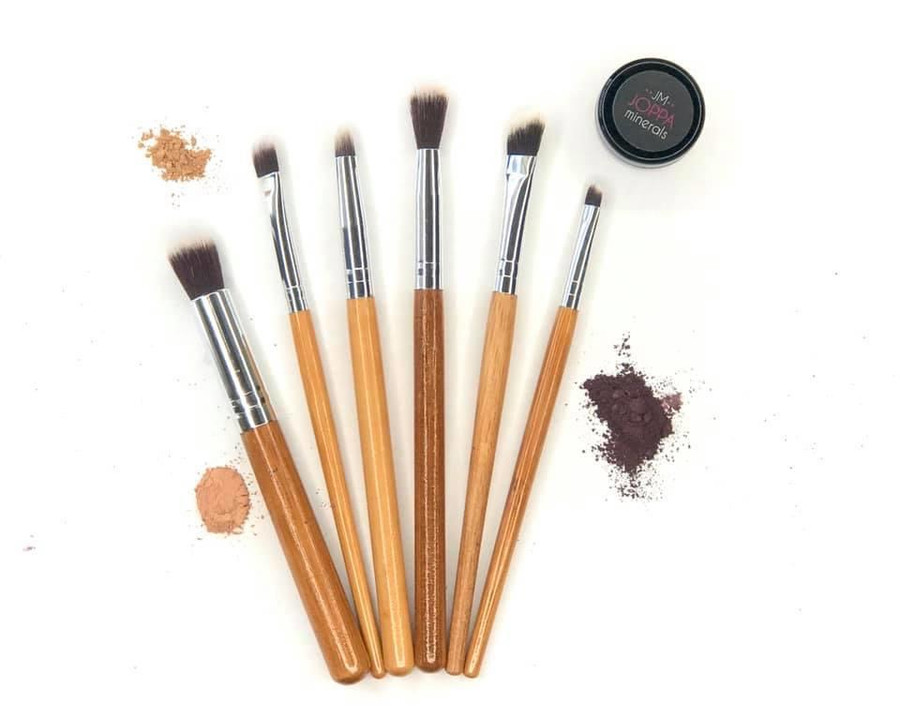 6 pc. Bamboo Eye Shadow Brush Set