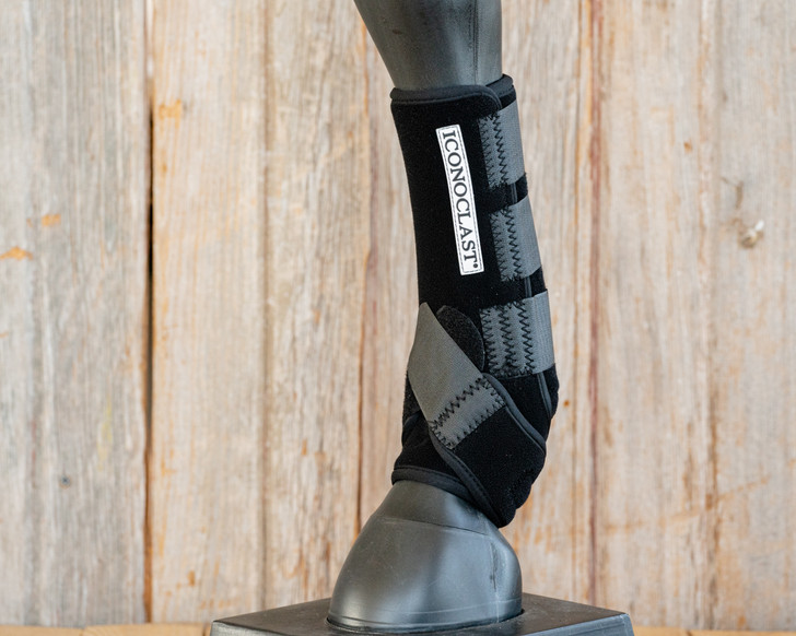 Iconoclast® Front Orthopedic Support Boots - Black