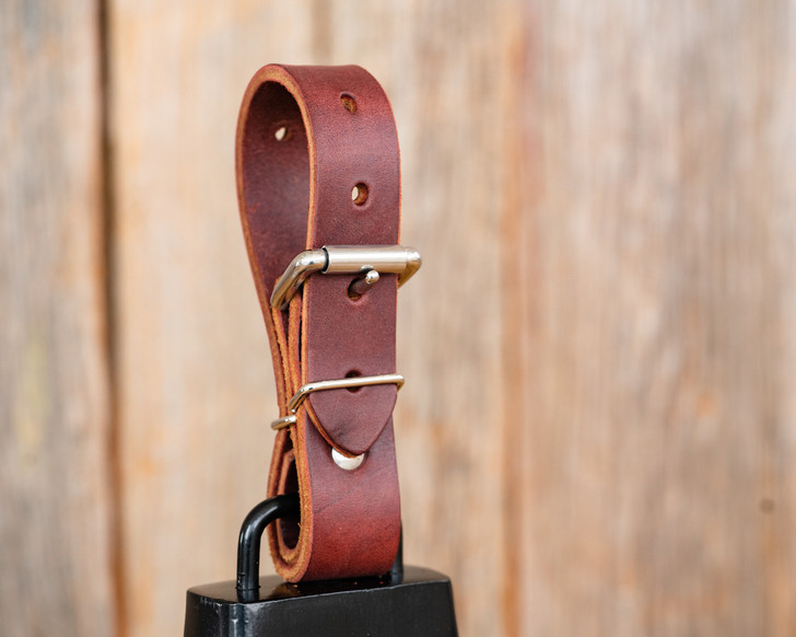 Premium Large Leather Bull Bell Strap