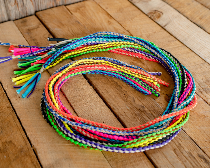 Nylon & Leather Braided Goat String