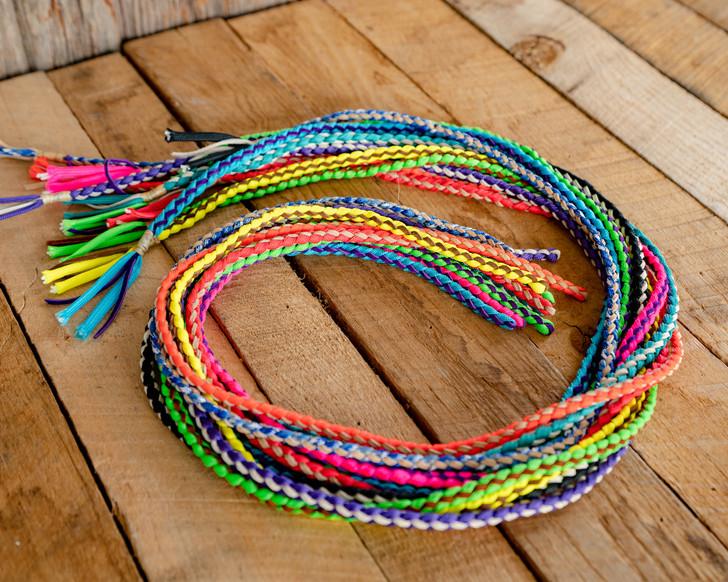 Nylon & Leather Braided Goat String