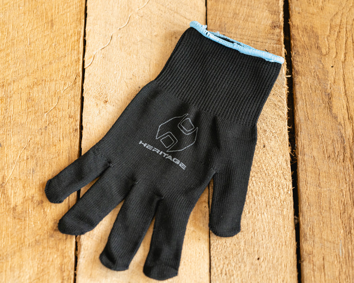 Black Cotton  Roping Glove by Heritage