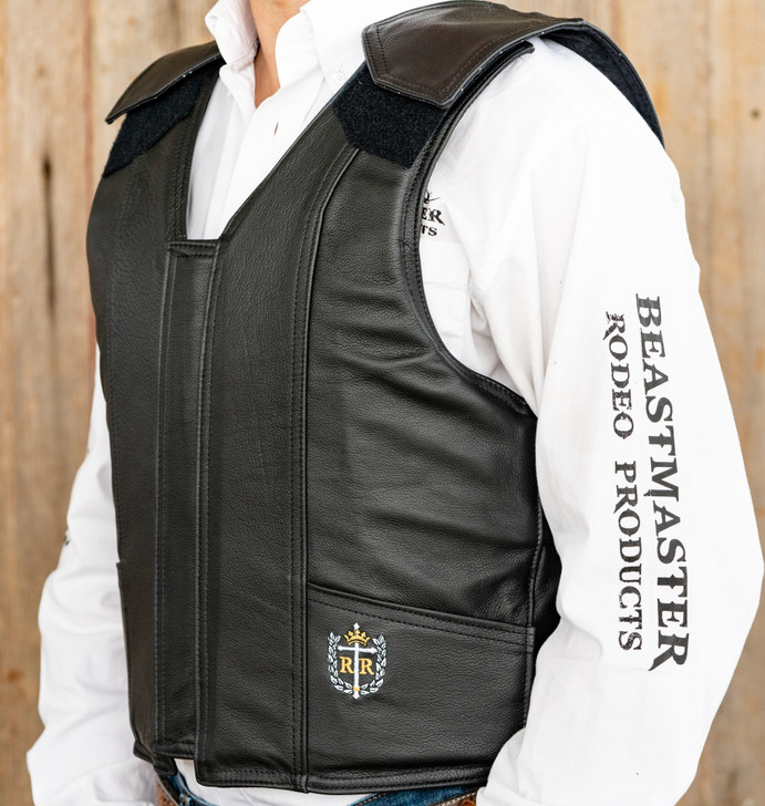 1200 Series Leather Bull Riding Vest