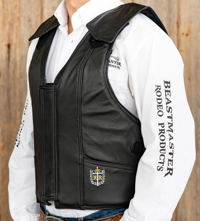 1000 Series Leather Saddle Bronc Vest