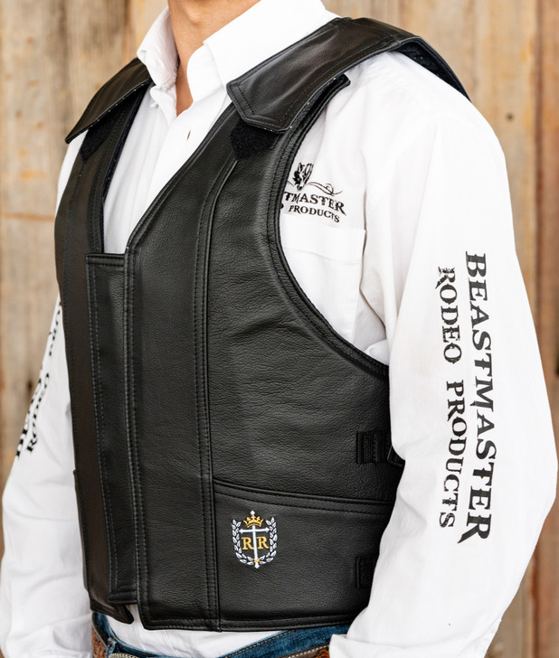 1100 Series Leather Bareback Vest