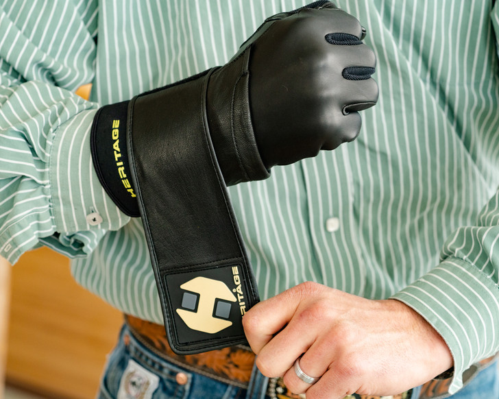 Heritage Wrist Wrap Adult Bull Riding Glove