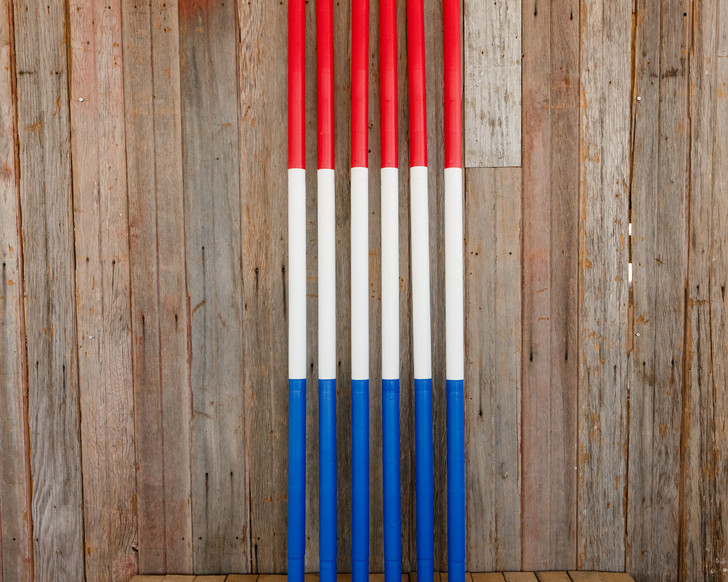 Red, White and Blue Pole Bending Poles