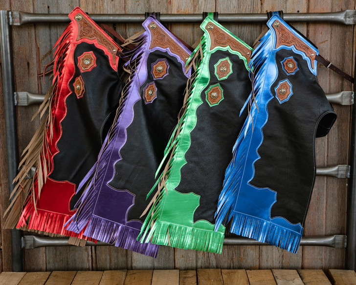 Youth Rodeo Chaps  with Leg Design