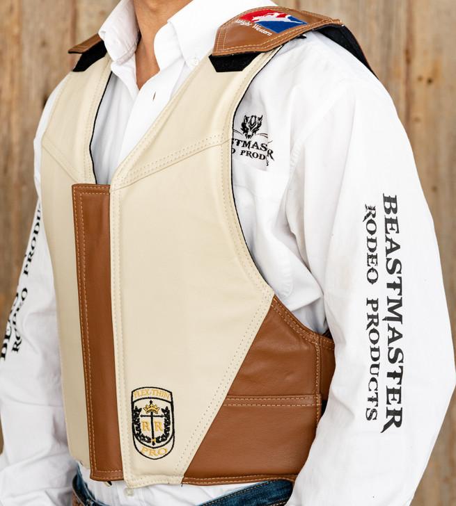 Custom Saddle Bronc Riding Vest Tan/Bone