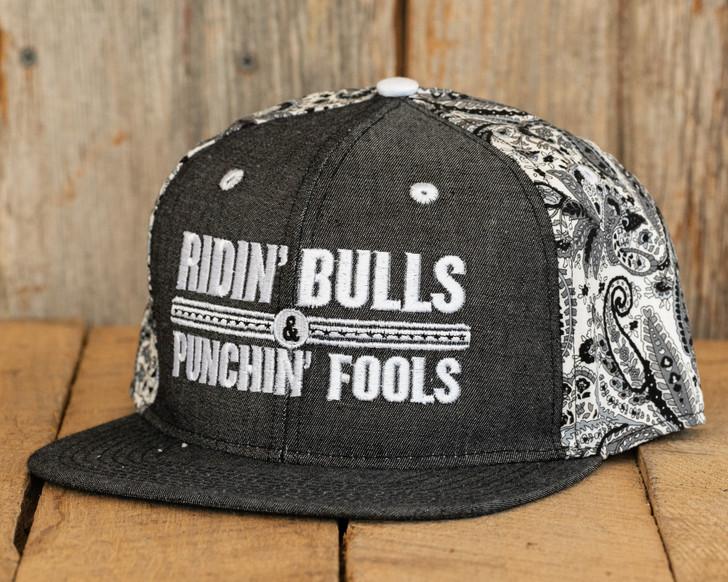Ridin Bulls & Punchin Fools Bandana SnapBack