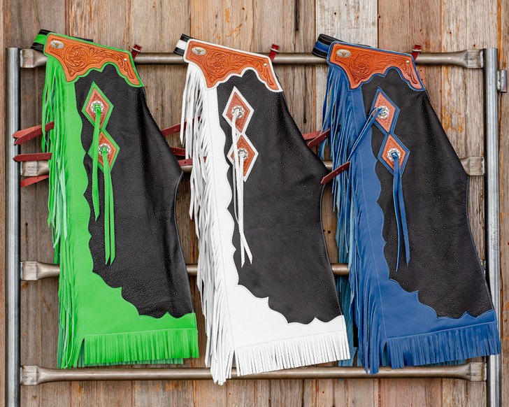 Junior Rodeo Chaps with Leg Design