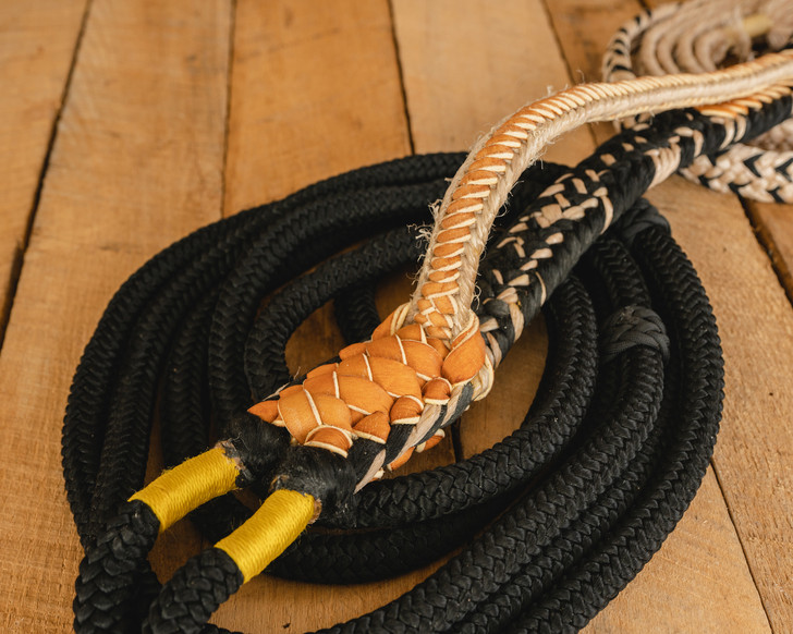 """Colored Pro Series Bull Rope (9x7, 7/8"""" full lace handle, 1"""" soft tail)"""
