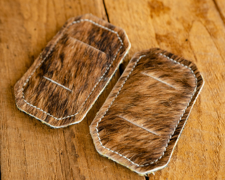 Cowhide Spur Strap Cover