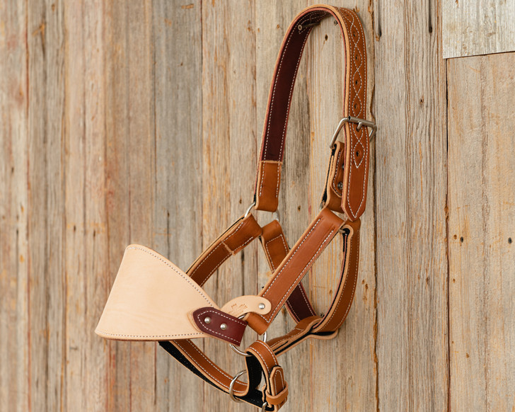 Adult Leather Saddle Bronc Halter
