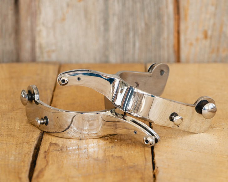 Stainless Steel Bull Riding Spurs