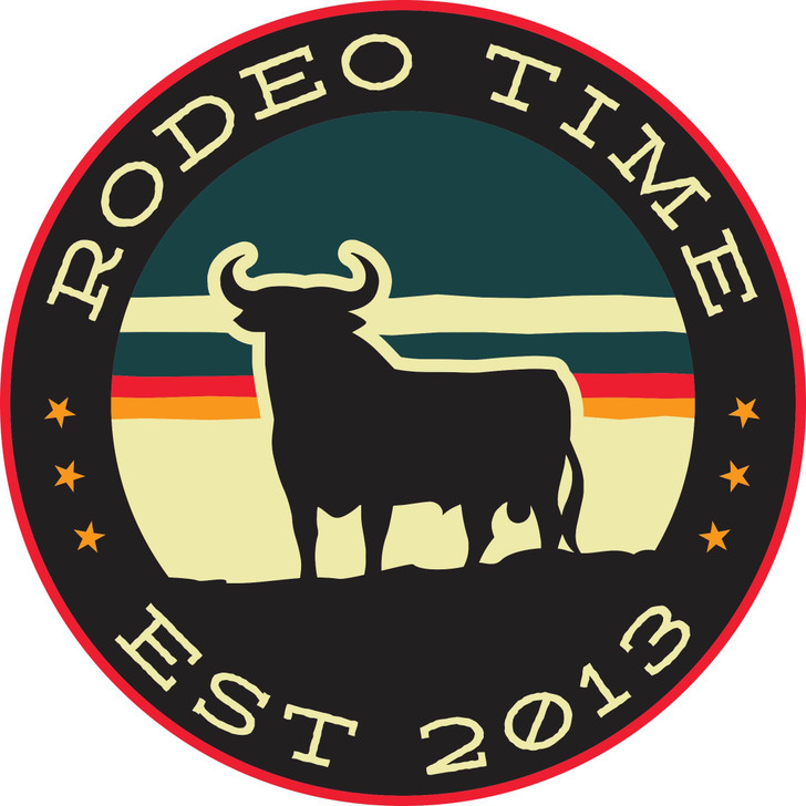 Rodeo Time Sunset Circle Decal