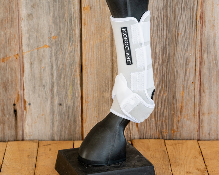 Iconoclast® Front Orthopedic Support Boots - White