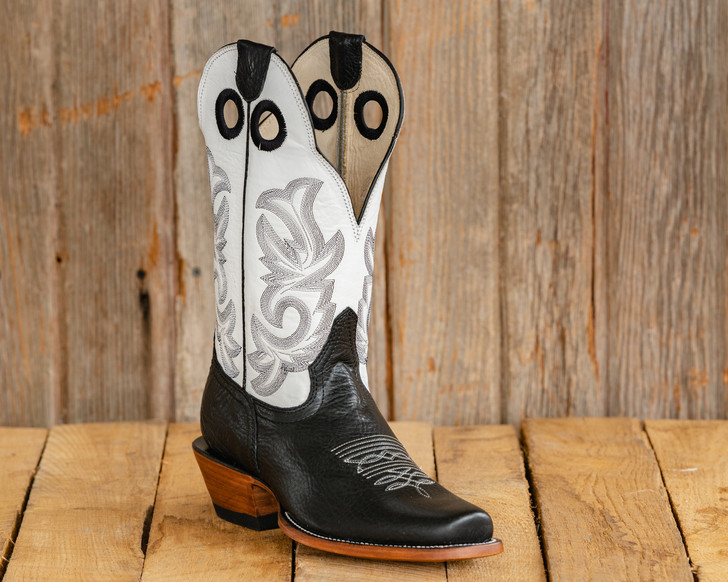 Old Style Beastmaster Roughstock Riding Boots - White