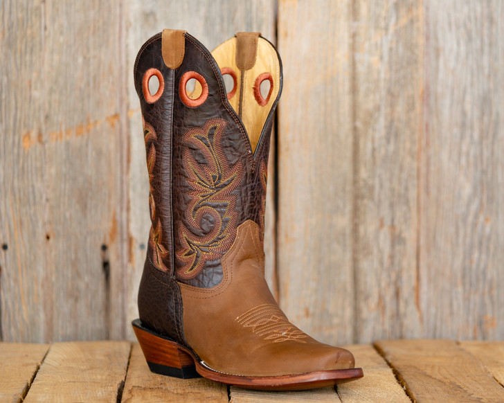 Old Style Beastmaster Roughstock Riding Boots- Brown