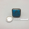 ring, sterling silver, turquoise, new, signed, Native, Ambrose Tsosie, Navajo