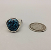 Lander Blue Sterling Silver Ring