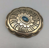Lander Blue Turquoise Belt Buckle