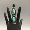 ring, Royston turquoise, sterling silver, signed, hallmarked, Native American