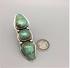 ring, signed, tufa, Carico Lake Turquoise, sterling silver, hallmarked, size 7.5