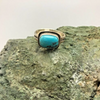 ring, turquoise, sterling silver, signed, hallmarked, Elle Curley-Jackson, Elle C-J, Navajo, Native American, size 13.5