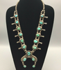 Vintage sterling silver and turquoise squash blossom