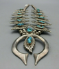 Vintage sand casted squash blossom with turquoise