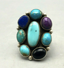 Multi stone cluster ring