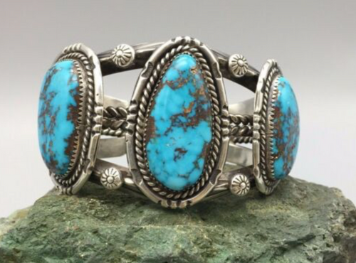 Red Mountain Turquoise Cuff Bracelet