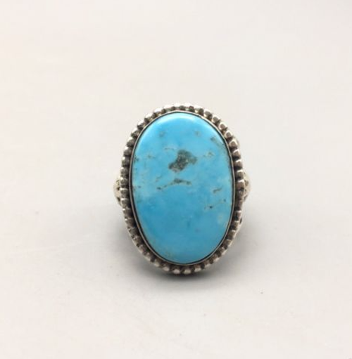 ring, Ambrose Tsosie, New, Navajo, Native American, hallmarked, turquoise, sterling silver