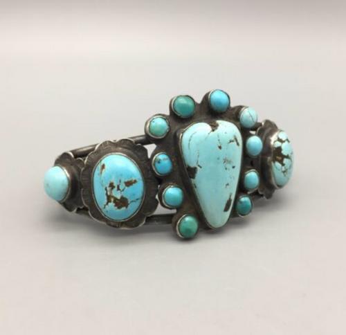 vintage turquoise cuff bracelet